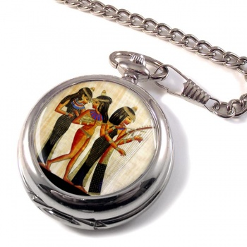 Ancient Egyptian Musicians Pocket Watch