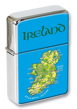 Ireland Map Flip Top Lighter