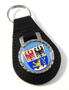 Erlangen (Germany) Leather Key Fob
