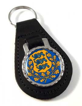 Estonia Eesti Leather Key Fob