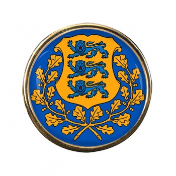 Estonia Eesti Round Pin Badge