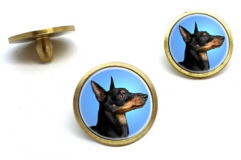 English Toy Terrier (Black & Tan)  Golf Ball Marker Set