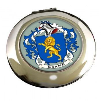Evans Coat of Arms Chrome Mirror