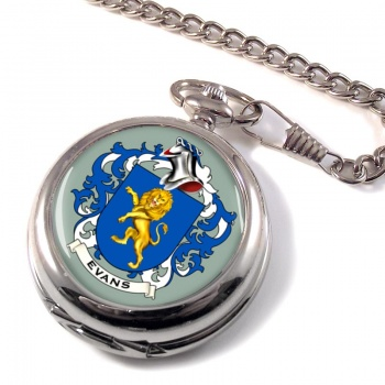 Evans Coat of Arms Pocket Watch