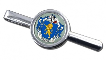 Evans Coat of Arms Round Tie Clip