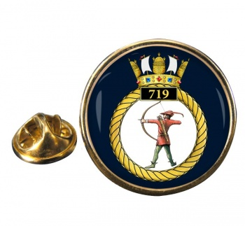 719 Naval Air Squadron Round Pin Badge
