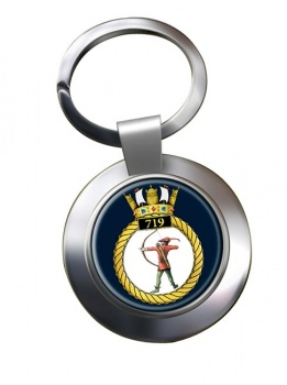 719 Naval Air Squadron Chrome Key Ring