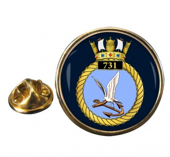 731 Naval Air Squadron Round Pin Badge