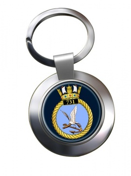 731 Naval Air Squadron Chrome Key Ring