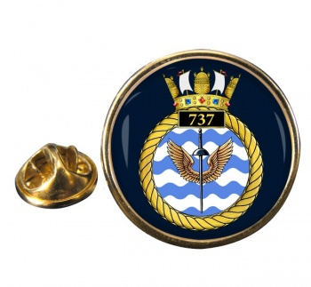 737 Naval Air Squadron Round Pin Badge