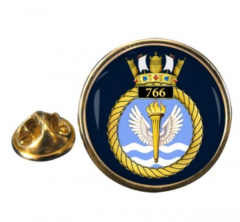 766 Naval Air Squadron  Round Pin Badge