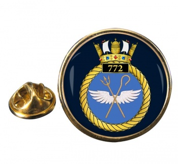 772 Naval Air Squadron  Round Pin Badge