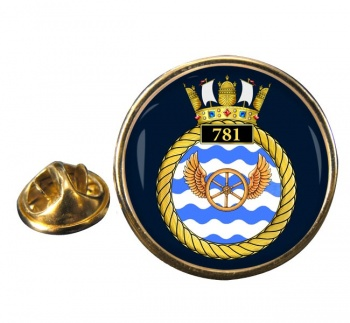 781 Naval Air Squadron  Round Pin Badge