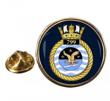 799 Naval Air Squadron Round Pin Badge