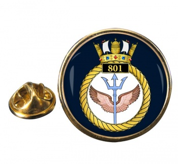 801 Naval Air Squadron Round Pin Badge