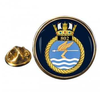 802 Naval Air Squadron Round Pin Badge