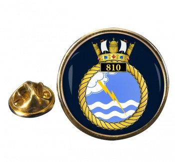 810 Naval Air Squadron Round Pin Badge