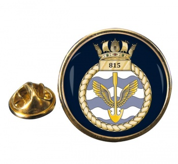 815 Naval Air Squadron  Round Pin Badge