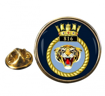 816 Naval Air Squadron  Round Pin Badge