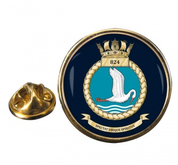 824 Naval Air Squadron  Round Pin Badge