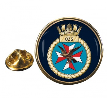 825 Naval Air Squadron  Round Pin Badge