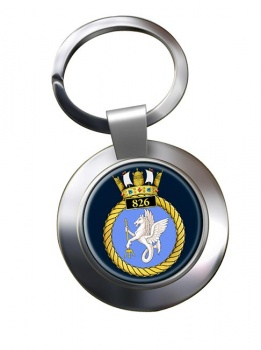 826 Naval Air Squadron Chrome Key Ring