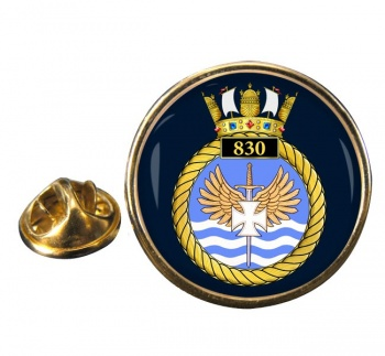 830 Naval Air Squadron Round Pin Badge
