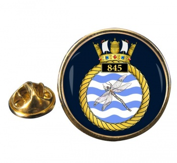 845 Naval Air Squadron Round Pin Badge