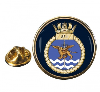 854 Naval Air Squadron  Round Pin Badge