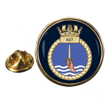 857 Naval Air Squadron  Round Pin Badge