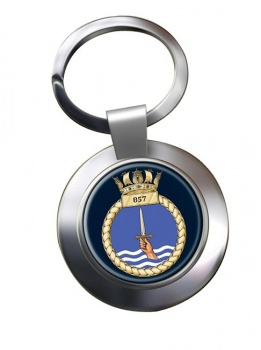857 Naval Air Squadron  Chrome Key Ring