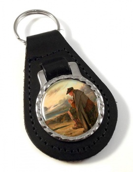 Oh Why I Left My Hame by Faed Leather Keyfob