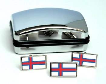Faroe Islands  Flag Cufflink and Tie Pin Set