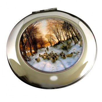 Through the Calm and Frosty Air by Farquharson Round Mirror