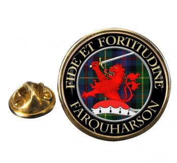 Farquharson Scottish Clan Round Pin Badge