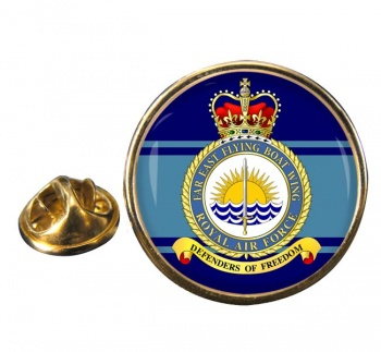 Far East Flying Boat Wing Round Pin Badge