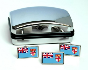 Fiji Flag Cufflink and Tie Pin Set