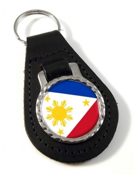 Philippines Pilipinas Leather Key Fob