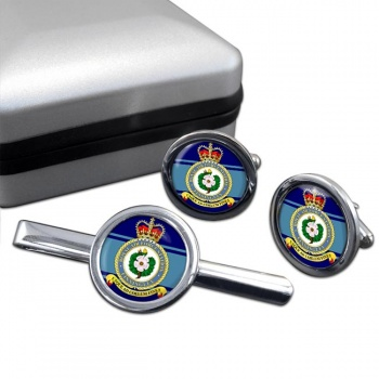 Finningley Round Cufflink and Tie Clip Set