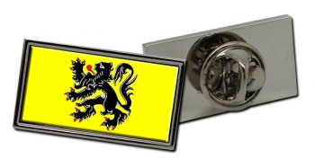 Vlaanderen Flandre (Belgium) Flag Pin Badge