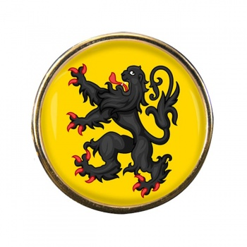 Flanders Crests Lapel Pin Badge