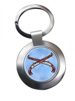 Flintlock Pistols Chrome Key Ring