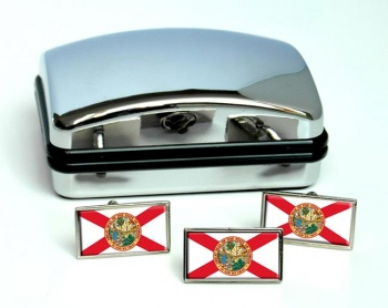 Florida  Flag Cufflink and Tie Pin Set