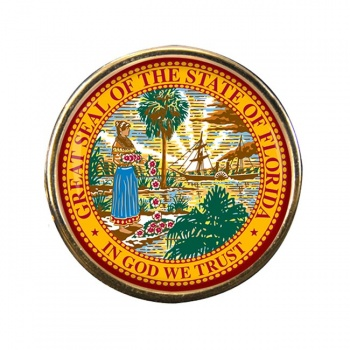 Florida Round Pin Badge
