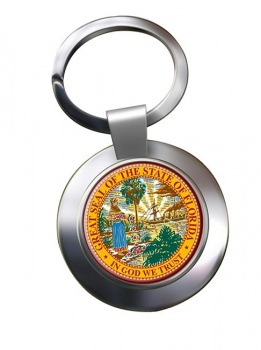Florida  Metal Key Ring