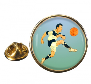 Football Round Pin Badge