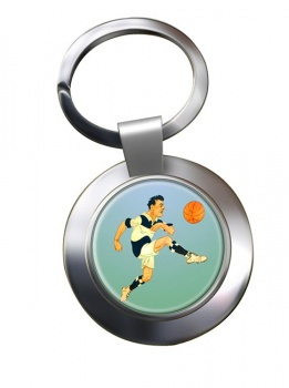 Football Chrome Key Ring