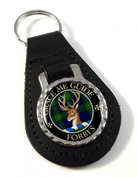 Forbes Scottish Clan Leather Key Fob