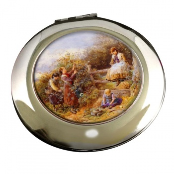 The Blackberry Gatherers by Foster Round Mirror