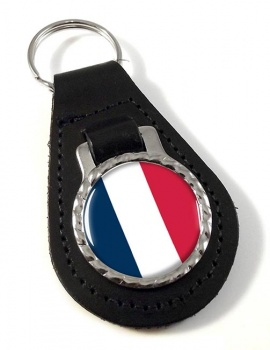 France (Flag) Leather Key Fob